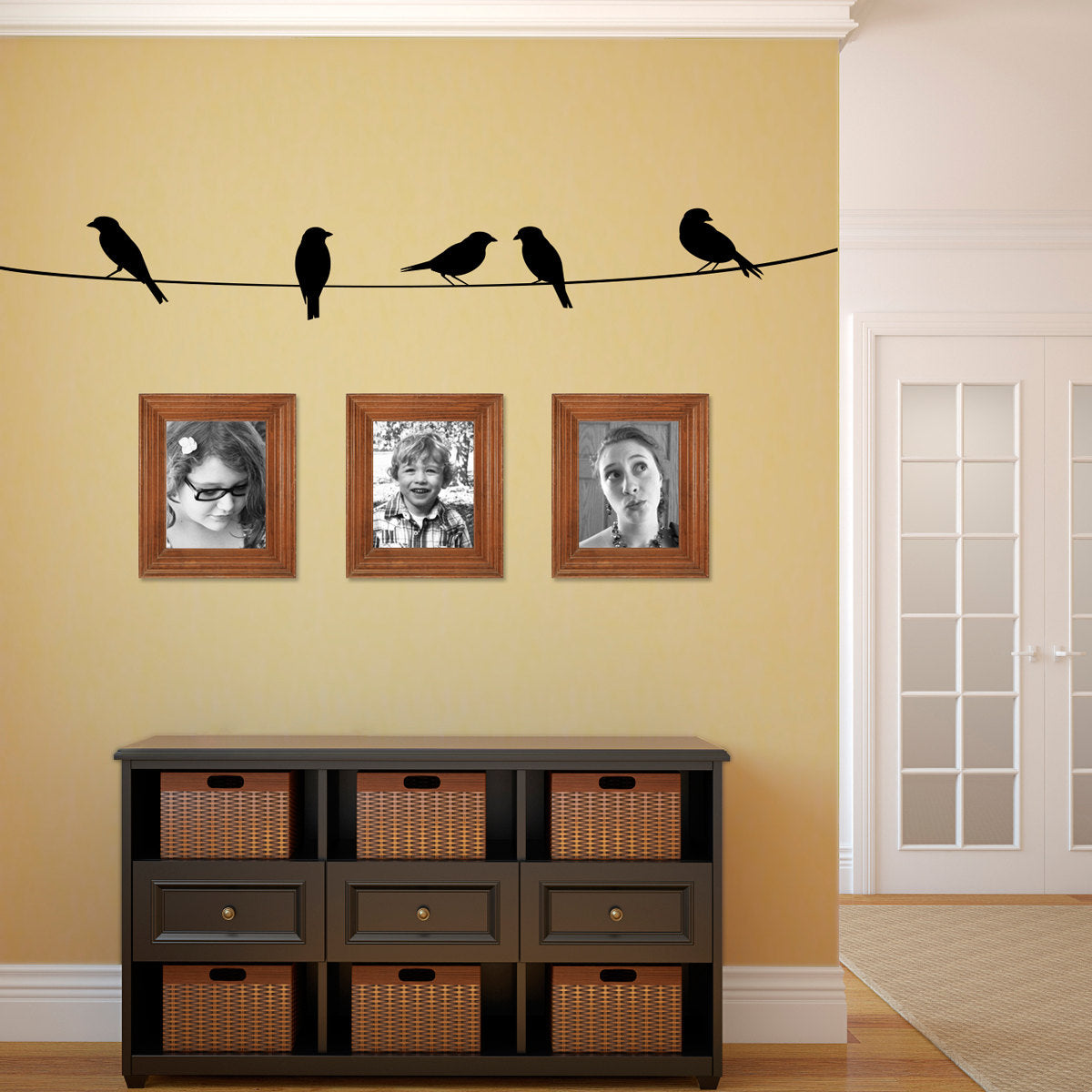 Birds on a wire Wall Decal - Bird Decal - Birds on a line Wall ...