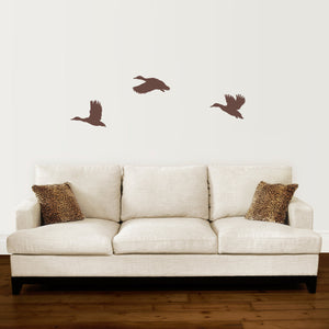 Set of 3 Flying Ducks Wall Decal