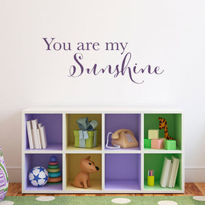 You Are My Sunshine Medium Wall Decal Quote