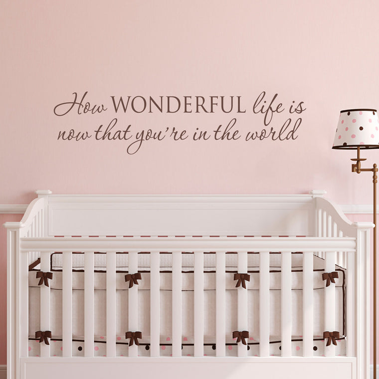How Wonderful Life is Now that You're in the World Wall Decal - Large