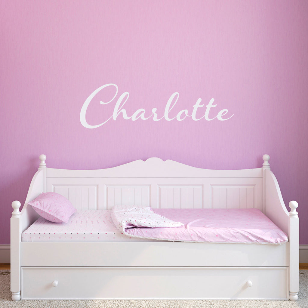 Personalized Girl Name Script 2 Wall Decal