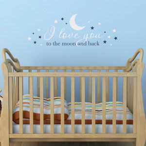 I Love You to the Moon and Back Large Nursery Wall Decal