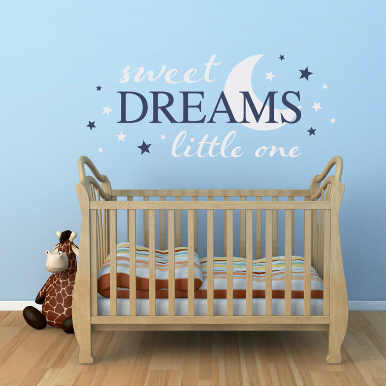 Sweet Dreams little one Wall Decal - Nursery Decal - Dream wall sticker - Extra Large