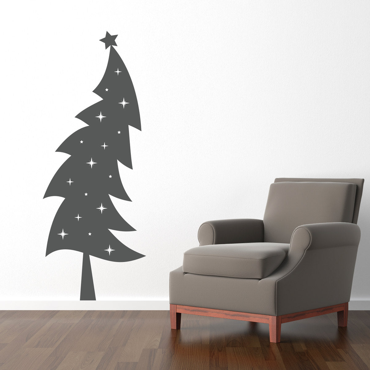 christmas tree wall decal holiday wall decor christmas wall art stephen edward graphics - Christmas Wall Art Decor