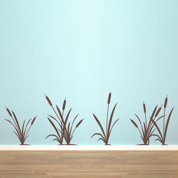 Set Of 6 Marsh Grass And Cattails Large Nature Wall Decals ...