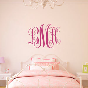 Custom Monogram Wall Decal - Script Initials
