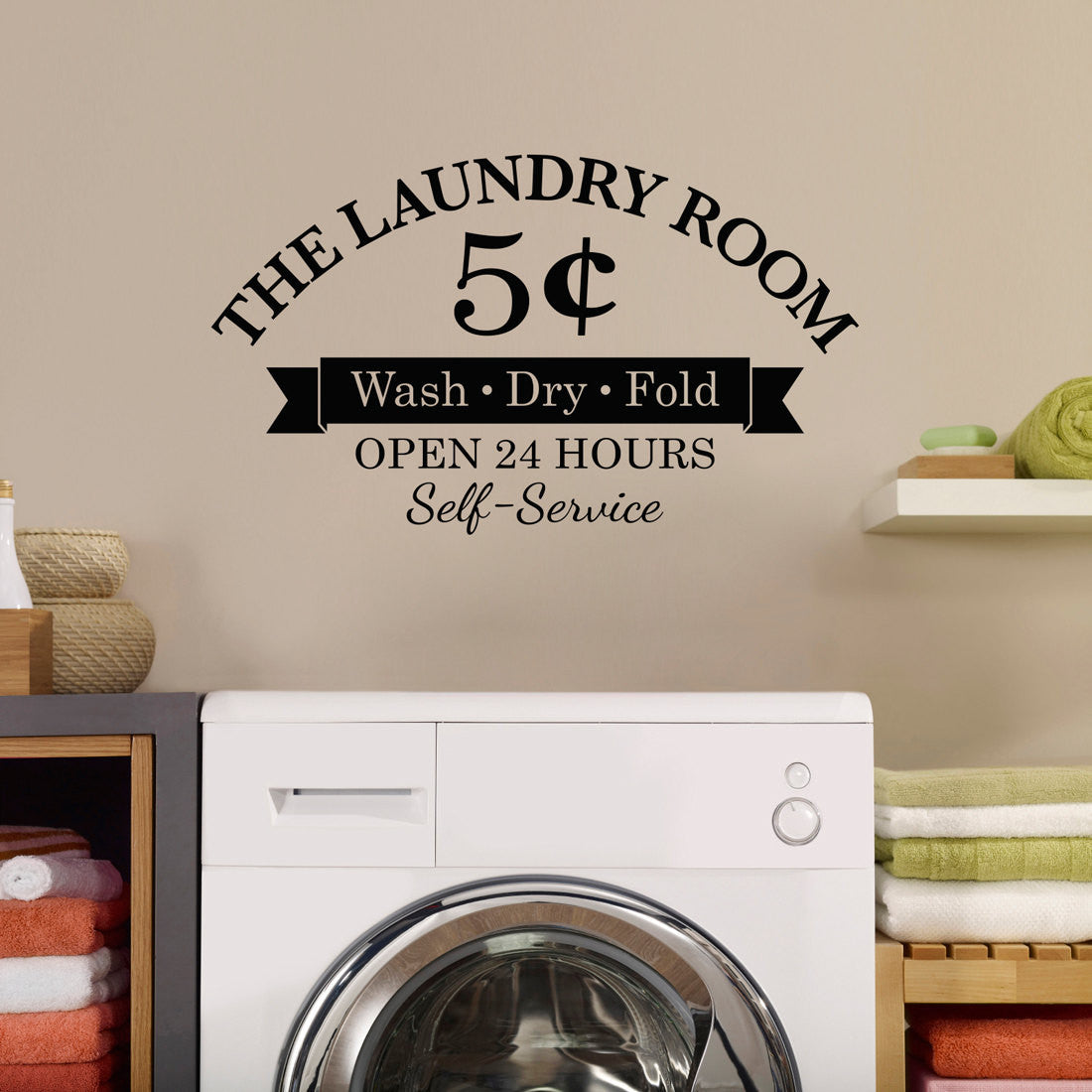The Laundry Room 5 Cents Wall Decal   Medium Part 42