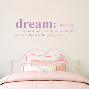 Dream Definition Wall Decal