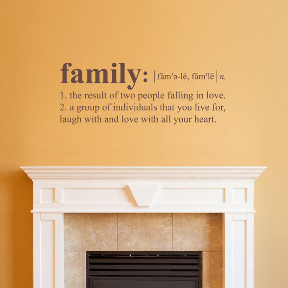 Family Dictionary Definition Wall Decal - Medium