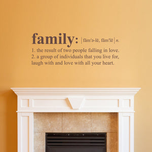 Family Definition Medium Wall Decal