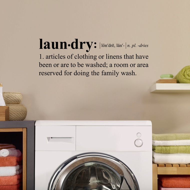 Laundry Definition Wall Decal - Dictionary definition Decal - Laundry Wall Decal - Medium