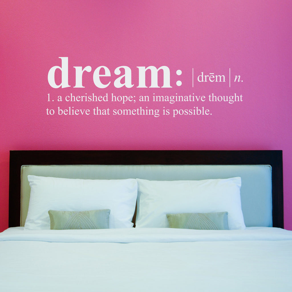 Dream Dictionary Definition Wall Decal - Large