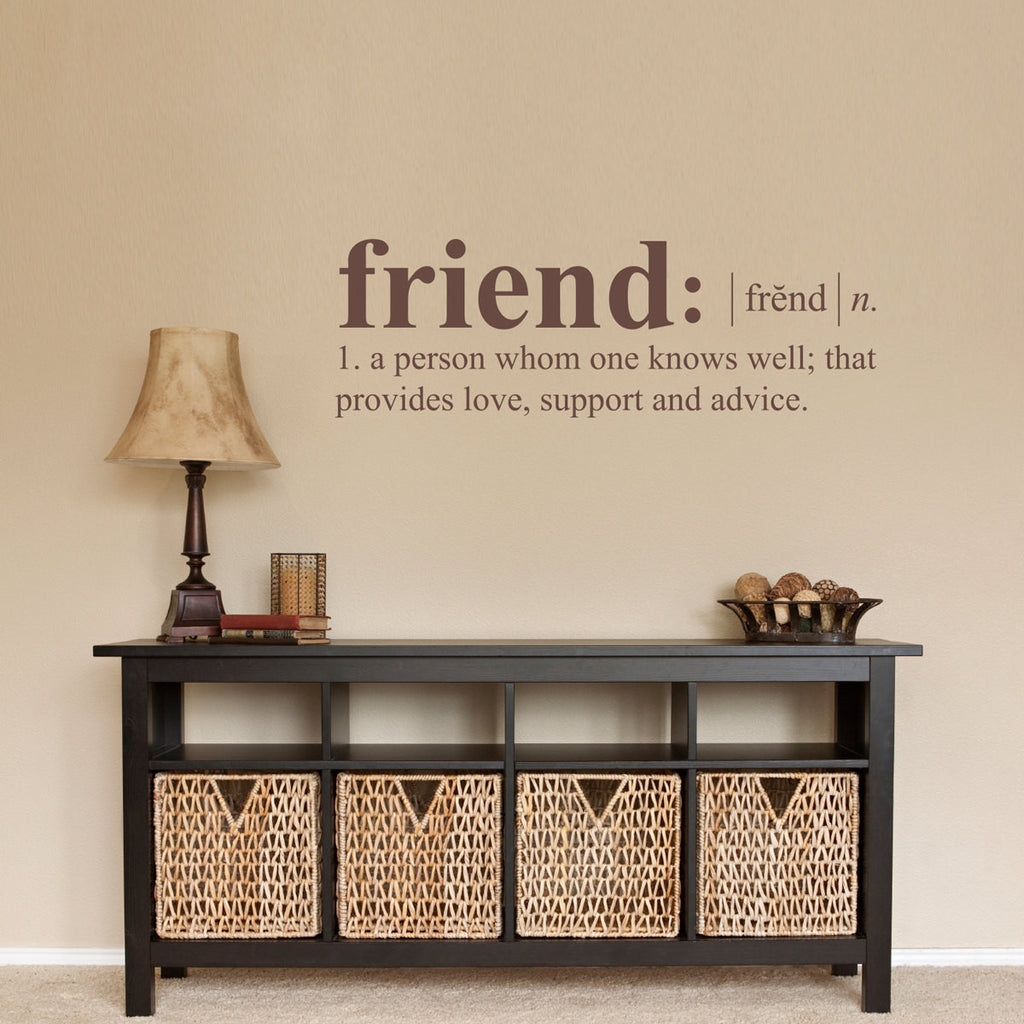 Friend Dictionary Definition Wall Decal - Medium
