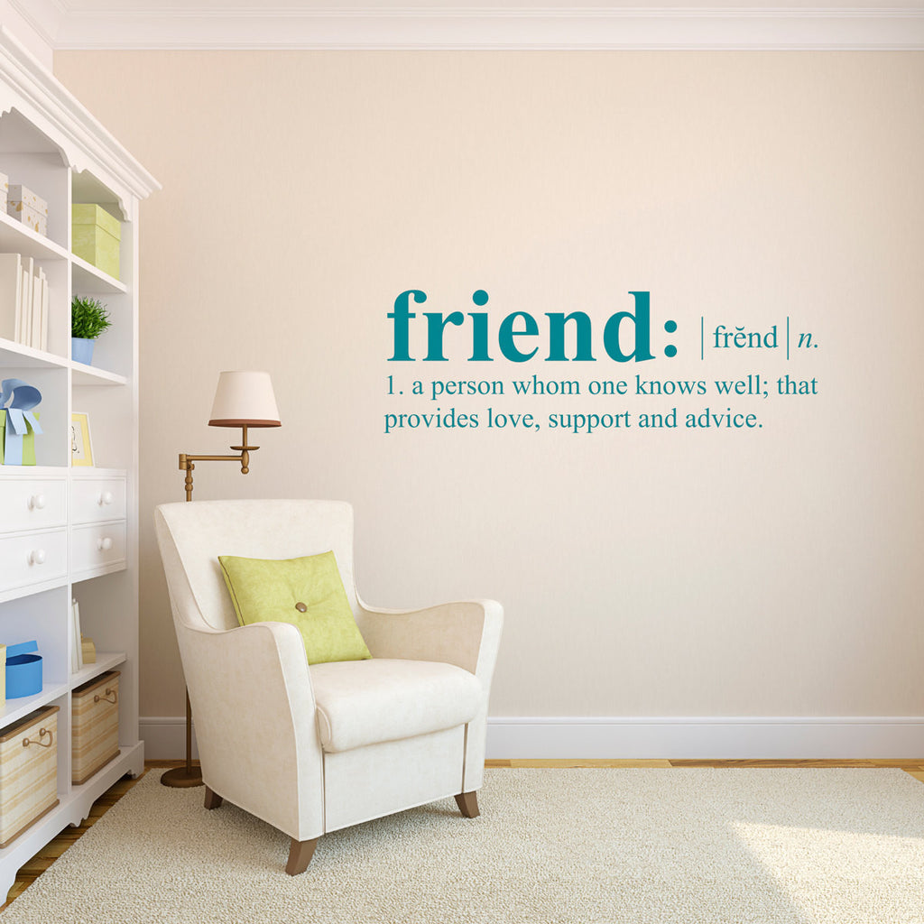 Friend Dictionary Definition Wall Decal - Large