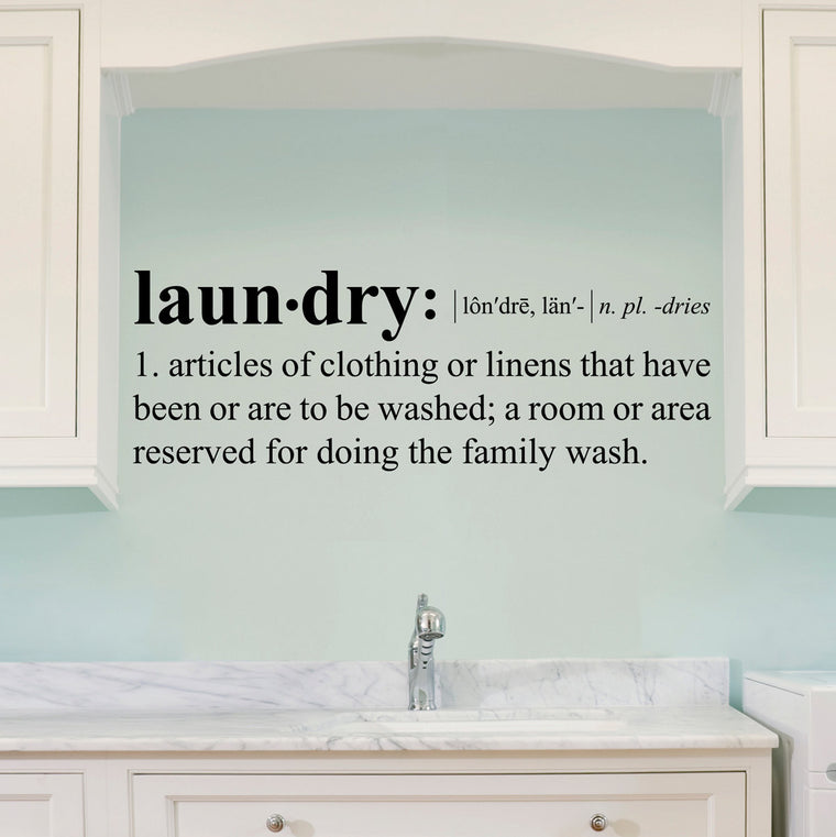 Laundry Definition Wall Decal - Dictionary definition Decal - Laundry Wall Decal - Large