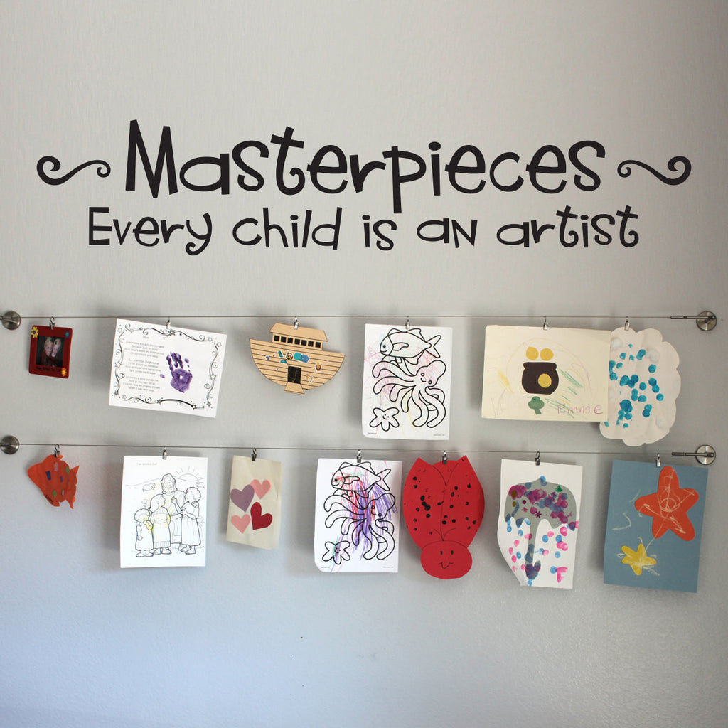 Masterpieces - Every Child is an Artist Wall Decal - Large