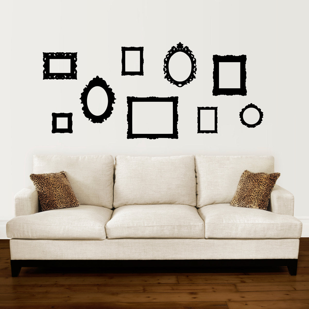 Baroque Picture Frame Decals - Set of 9 - Picture Frame Wall ...