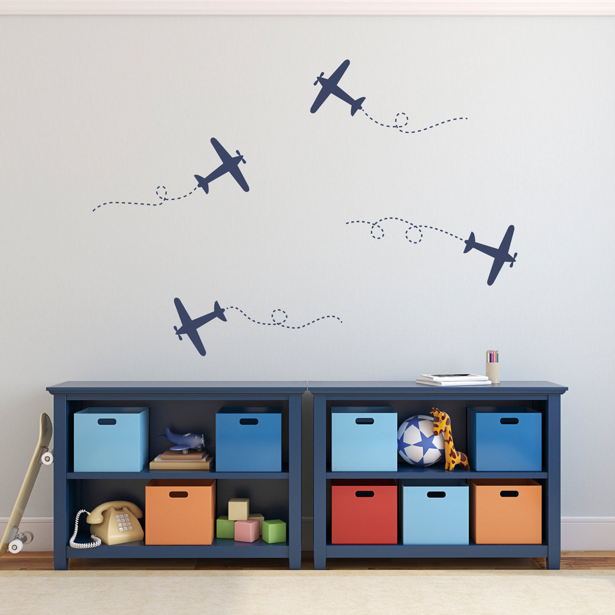 Airplane Wall Decal Set   Plane Wall Stickers   Set Of 4 Airplane Deca    Stephen Edward Graphics