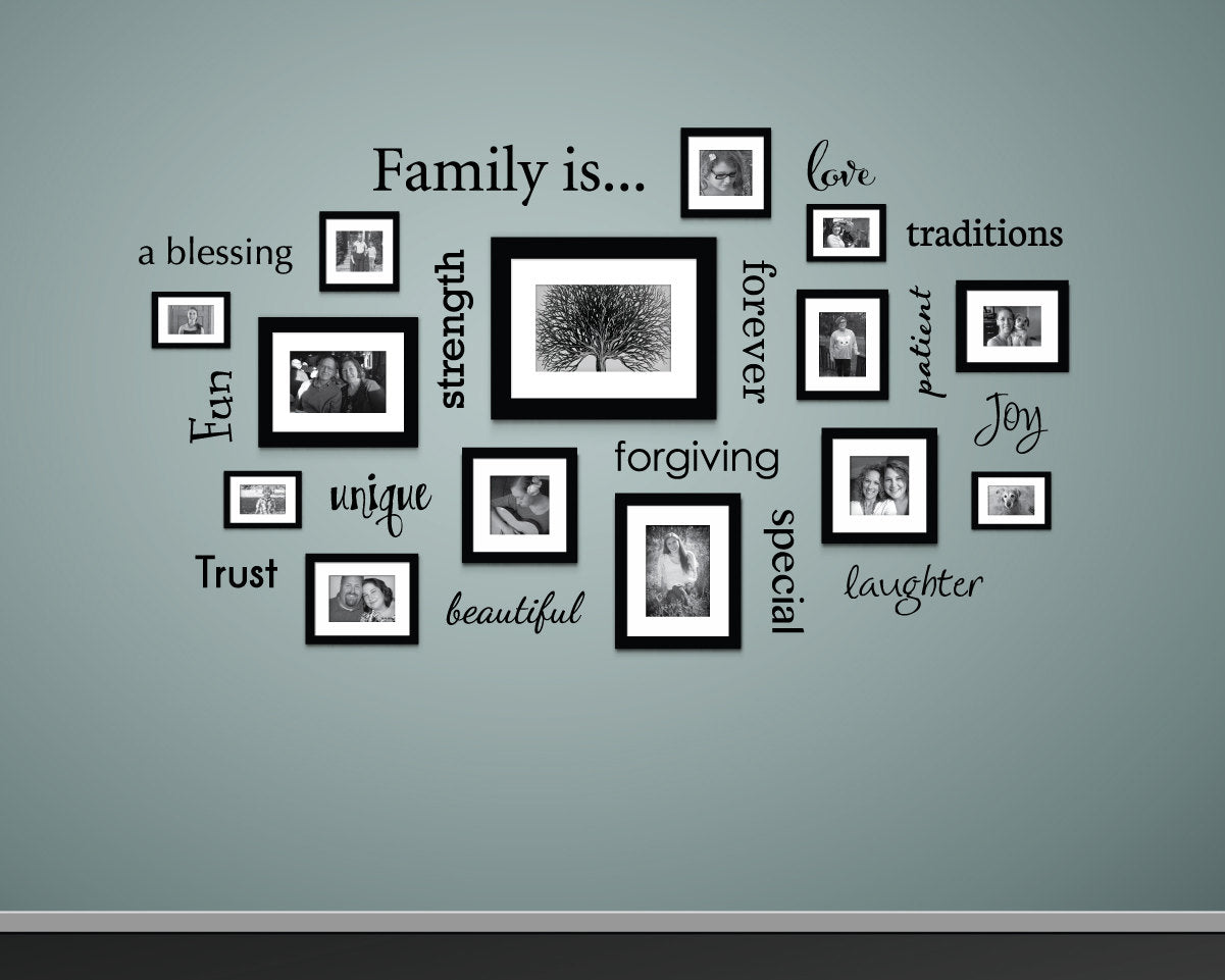 Wall Decal - Family Decor - Decals for Picture Wall - Gallery Wall Decals