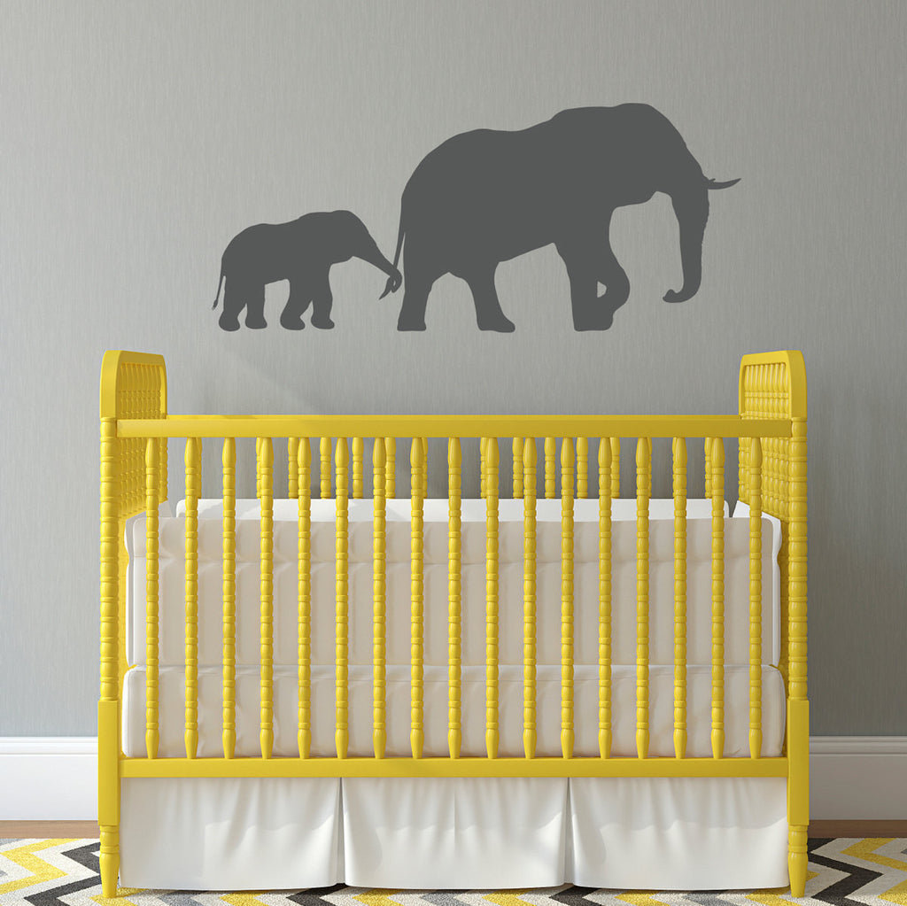 Elephant and Baby Wall Decal - Large