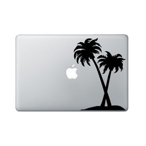 Palm Trees Laptop Decal - Tropical Macbook Decal - Palm Tree Laptop Art