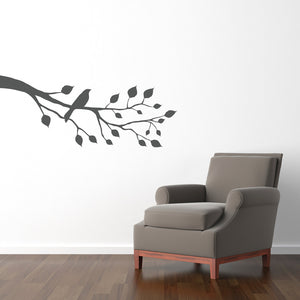 Bird on a Branch Wall Decal - Branch Wall Sticker - Bird Decal - Large Silhouette