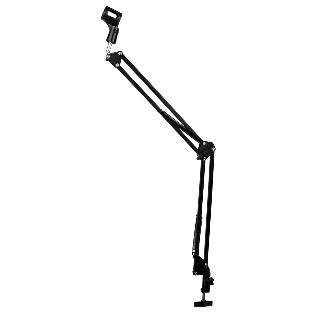 DragonPad USA Microphone Scissor Boom Arm with Desk Mount - Black
