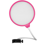 "DragonPad USA 6"" Microphone Studio Pop Filter with Clamp - Pink/White"