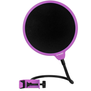 "DragonPad USA 6"" Microphone Studio Pop Filter with Clamp - Purple/Black"