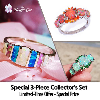 Special-Edition 3-Piece Fire Opal Collector's Set