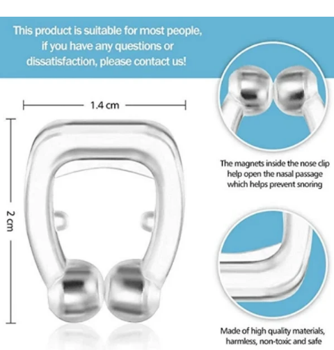 Snore Stopper Magnetic Nose Clip