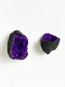 Black and Purple Geode - Quartz - Myles Gray