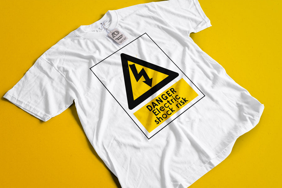 Safety Sign T-Shirt - Throwing Shapes