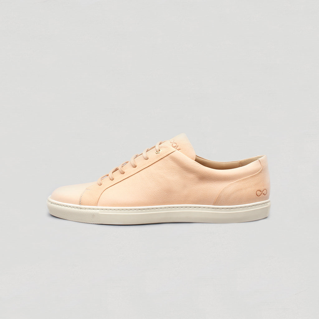 Low Top Court Sneaker in Vegetable Tanned Calf Leather