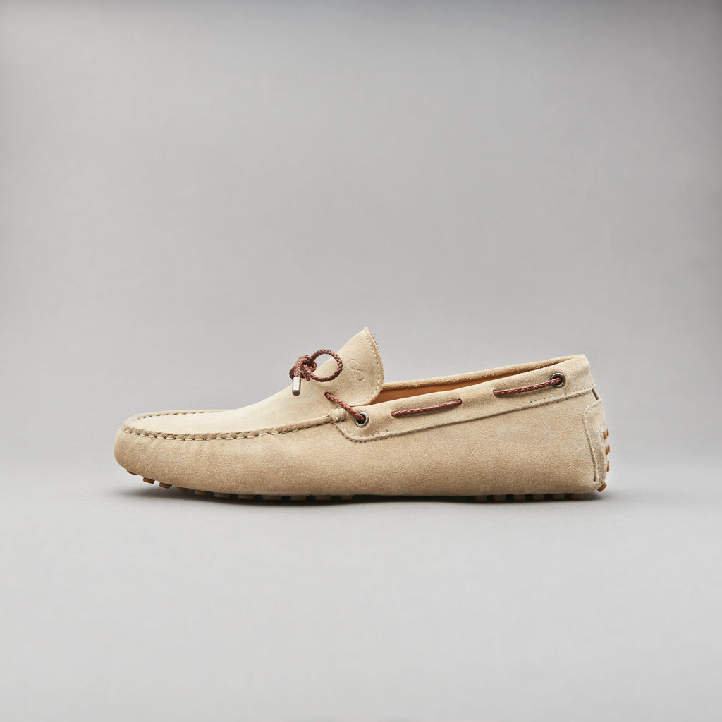 Driving Loafer in Sabbia Calf Suede Leather