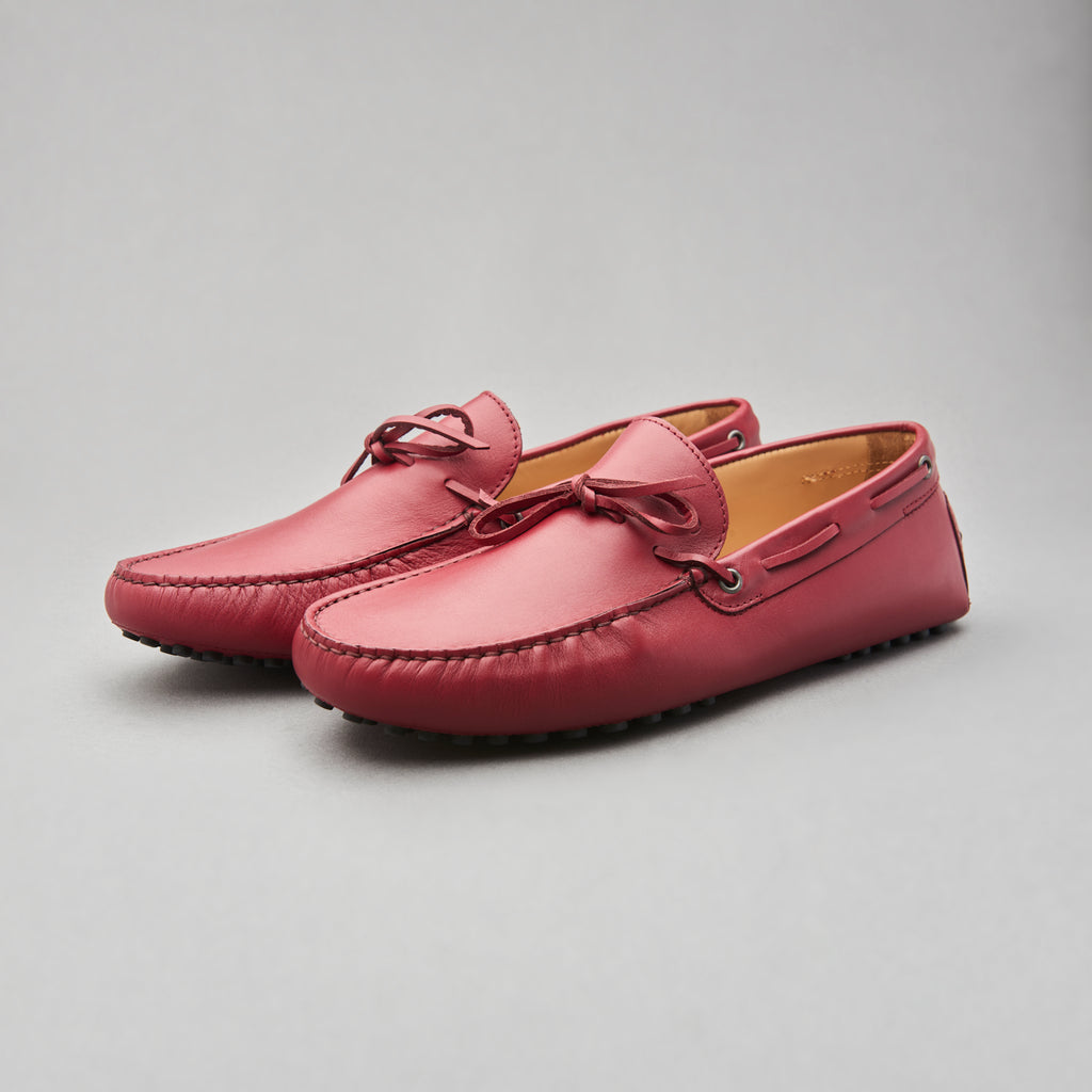 Driving Loafer in Campari Calf Leather