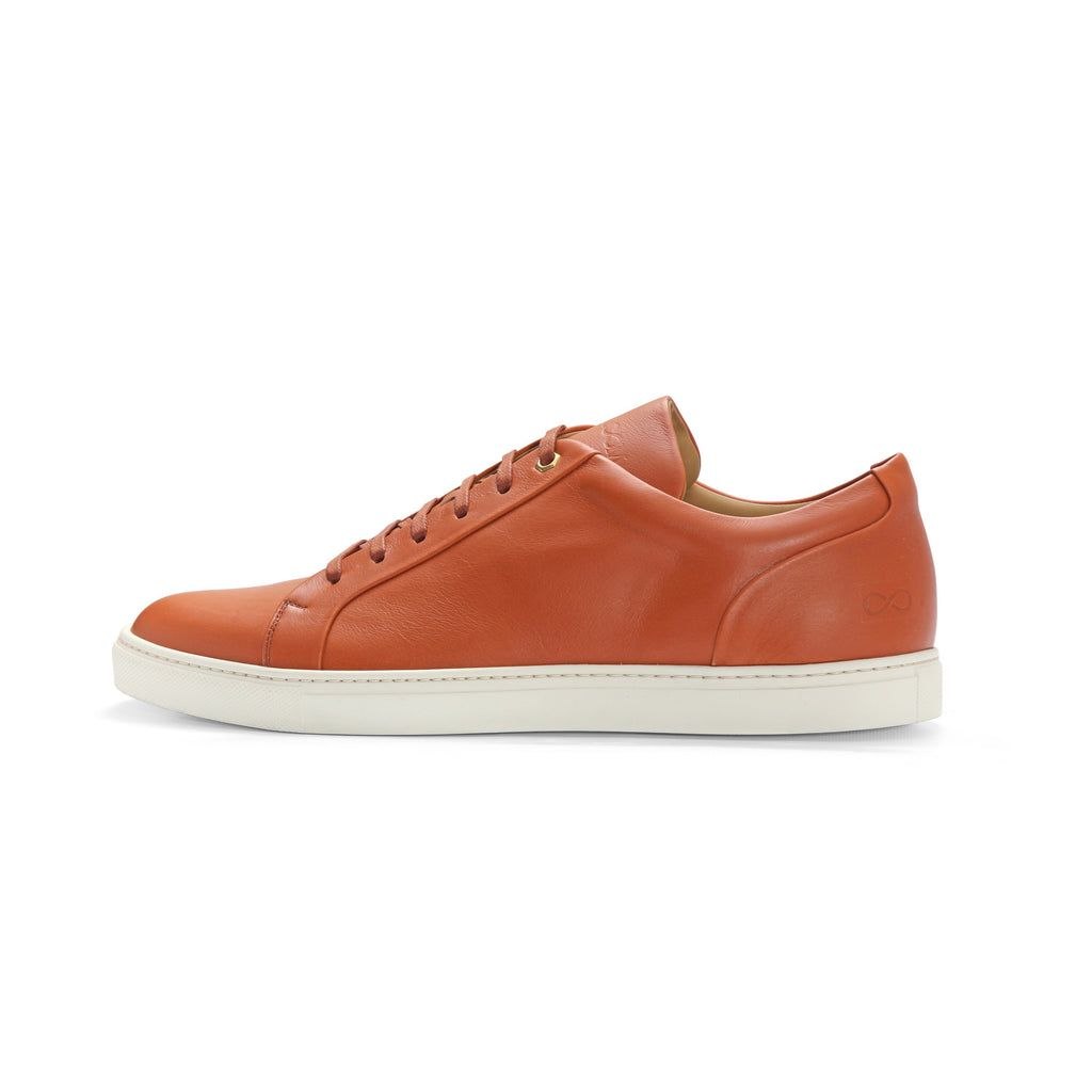 Low Top Court Sneaker in Cotto Smooth Calf Leather