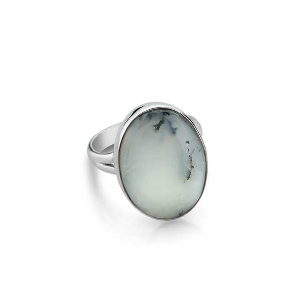 Sterling Silver ring with agate from your montreal jewellery designer, www.elysee.com