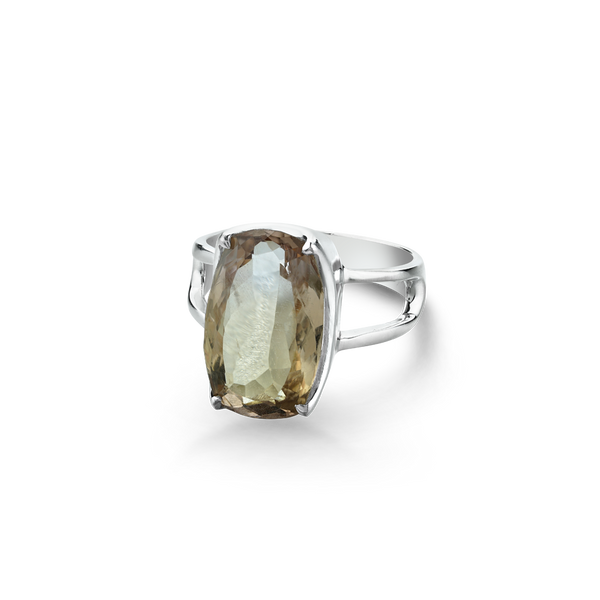 Sterling Silver ring set with Citrine from your montreal jewellery designer, www.elysee.com