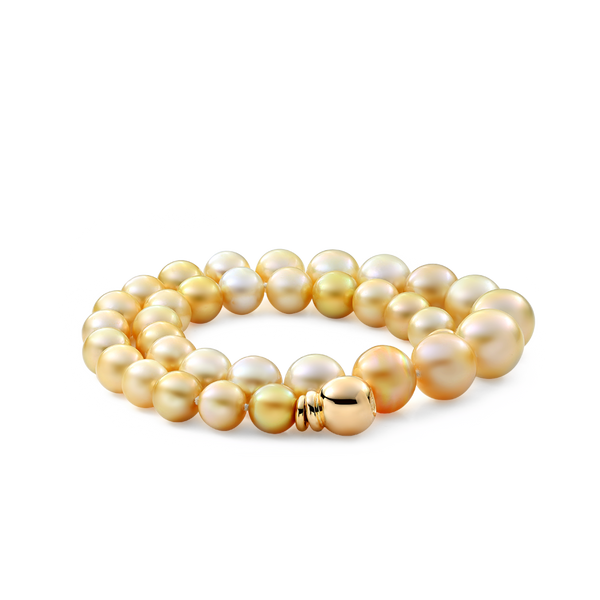 SOUTH SEA GOLDEN PEARL NECKLACE MONTREAL JEWELLERY DESIGNER www.elysee.ca