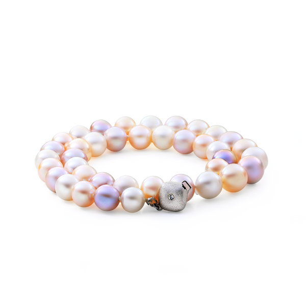 Multicolour pastel freshwater pearl necklace.