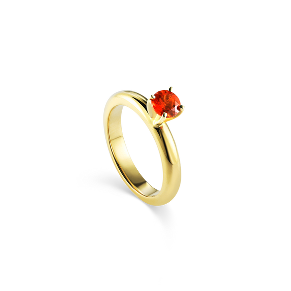 14K Yellow Gold and Mandarine Garnet Ring at your Montreal jewellery designer www.elysee.ca