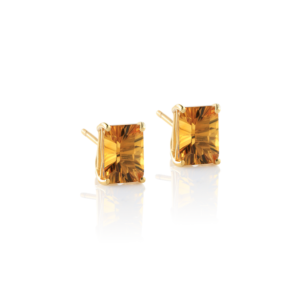 citrine montreal, citrine earrings, yellow gold citrine earrings, yellow earrings Montreal Jewellery designer www.elysee.ca