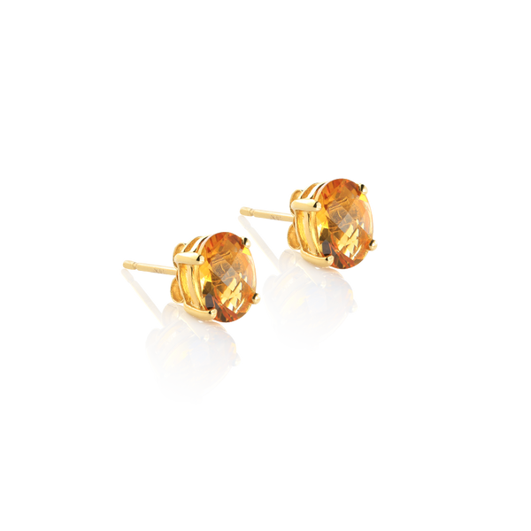 citrine earrings, yellow gold citrine earrings, citrine montreal, yellow gold citrine studs, gold earrings, citrine and gold, gold jewelry, montreal gifts, xmas gifts Montreal jewellery Designer, www.elsysse.ca