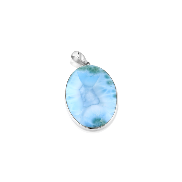 OVAL LARIMAR AND SILVER PENDANT, silver pendant, larimar pendant, larimar and silver, larimar jewelry, MOntreal jeweller, Montreal gifts, Holiday gifts idea, silver jewelry