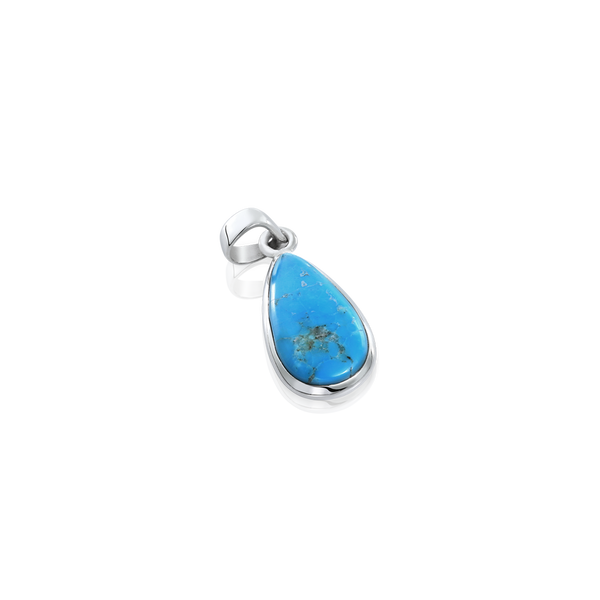 Turquoise and silver pendant, teardrop Turquoise pendant montreal, Turquoise montreal, gemstones montreal, Turquoise and silver jewellery