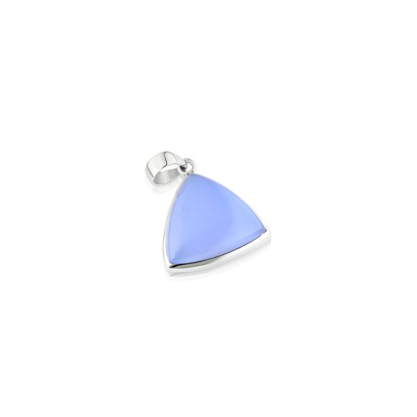 Natural chalcedony, chalcedony pendant, silver and chalcedony pendant, silver jewellery, trillion chalcedony, chalcedony montreal, silver pendants montreal,WWW.ELYSEE.CA