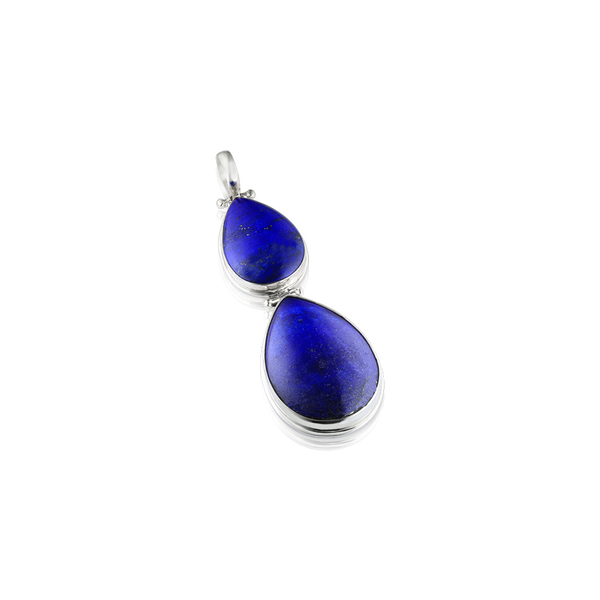 Afghan Lapis Lazuli and silver pendant, Pear shaped Cabochon Lapis Lazuli and Silver pendant, lapis lazuli, silver pendant, silver jewellery, Montreal Designer, blue stone pendant, lapis lazuli, blue gemstone and silver,