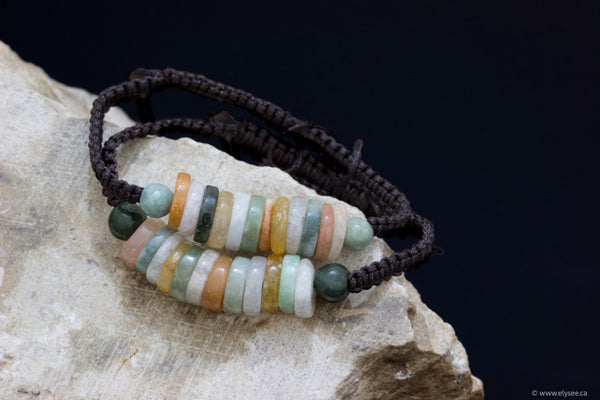 Handwoven jade bracelets from Myanmar available at montreal jewellery designer online shop