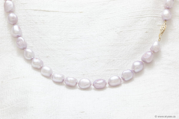 Freshwater baroque pink pearl necklace